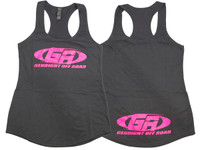 Womens Racer Back Tank Top - Grey/Pink