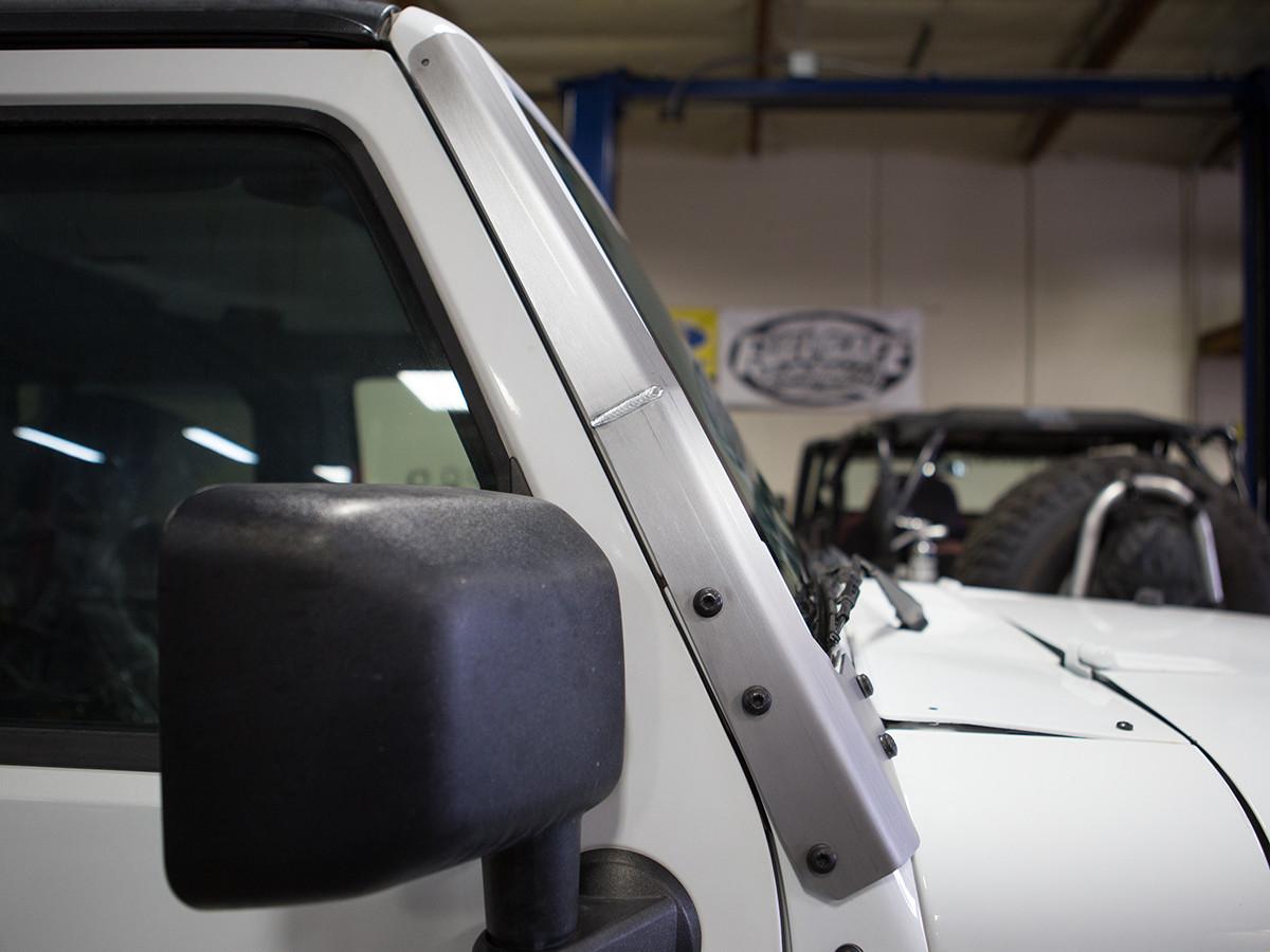 Jeep JK Windshield Armor Side View