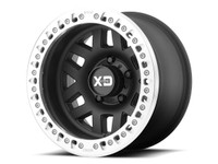 "KMC XD229 Machete Crawl 17"" Wheel (Satin Black w/ Machined Ring)"