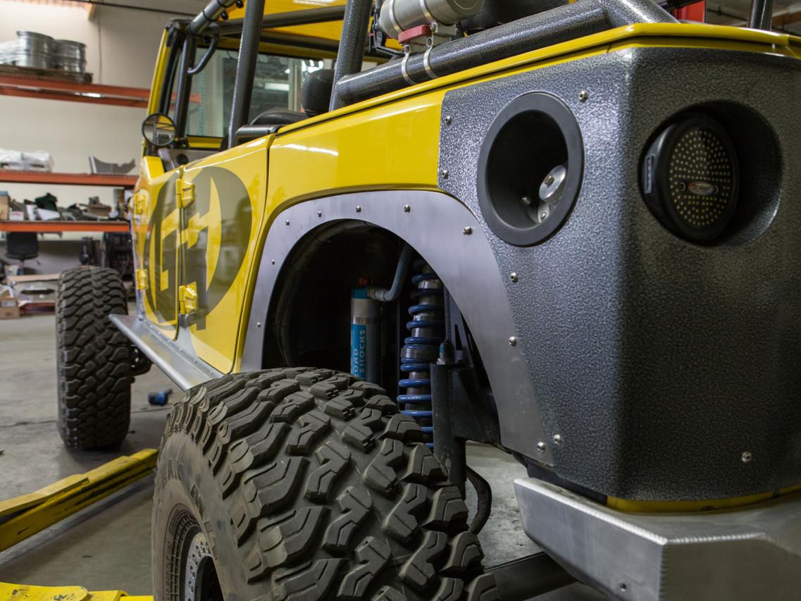 Jeep JK Fender Delete Kit (Rear Shown)