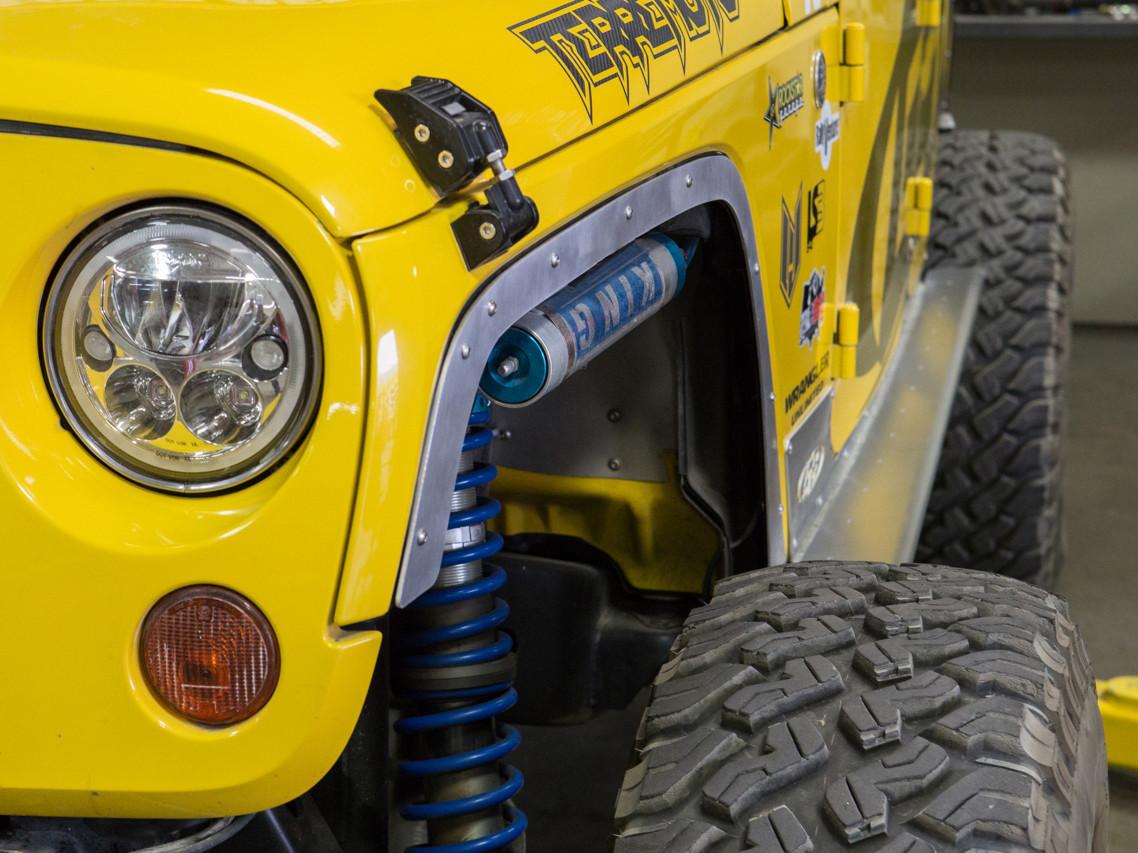 Jeep JK Fender Delete Kit (Front Shown)