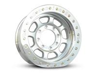 Trail Ready Bead lock wheel in polished silver finish