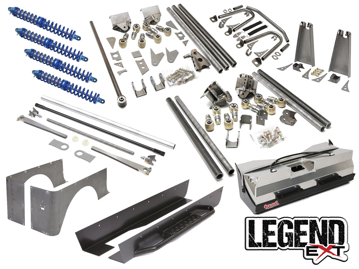 """Jeep YJ Legend EXT Suspension Package Provides 4-5"""" Stretch"""