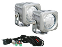 "Optimus 3"" Square Silver 10W LEDs 60° Flood Beam (Kit, 2 Lights)"