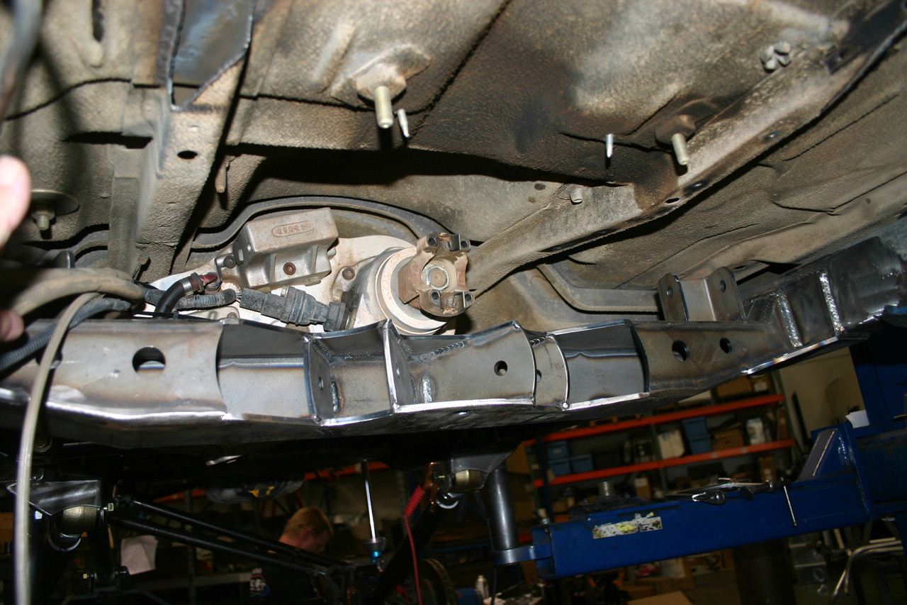 View looking toward transfer case