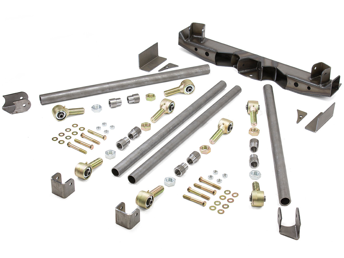 Double Triangulated Rear 4-Link Suspension Kit w/ Steel Links