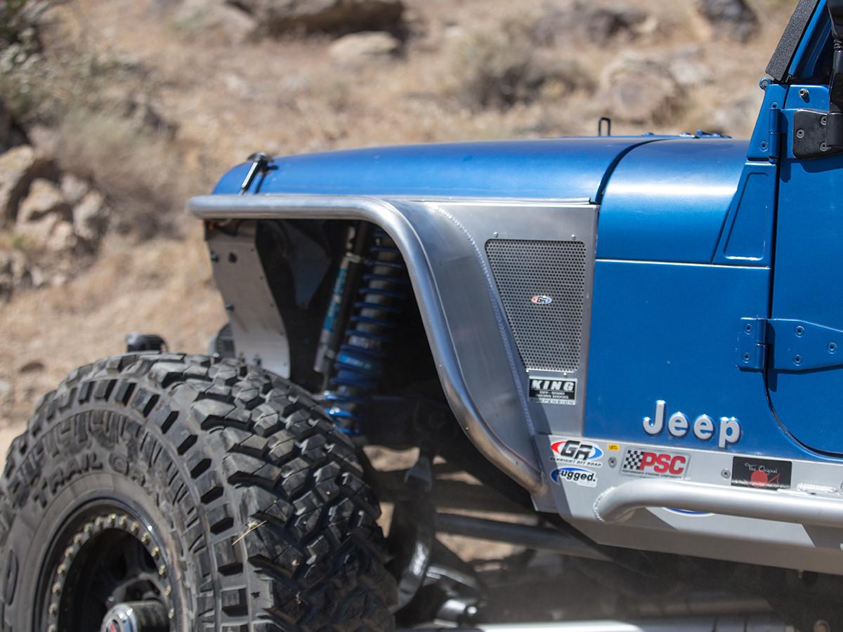 "Jeep TJ & LJ 6"" Flare Front Tube Fenders - Aluminum"