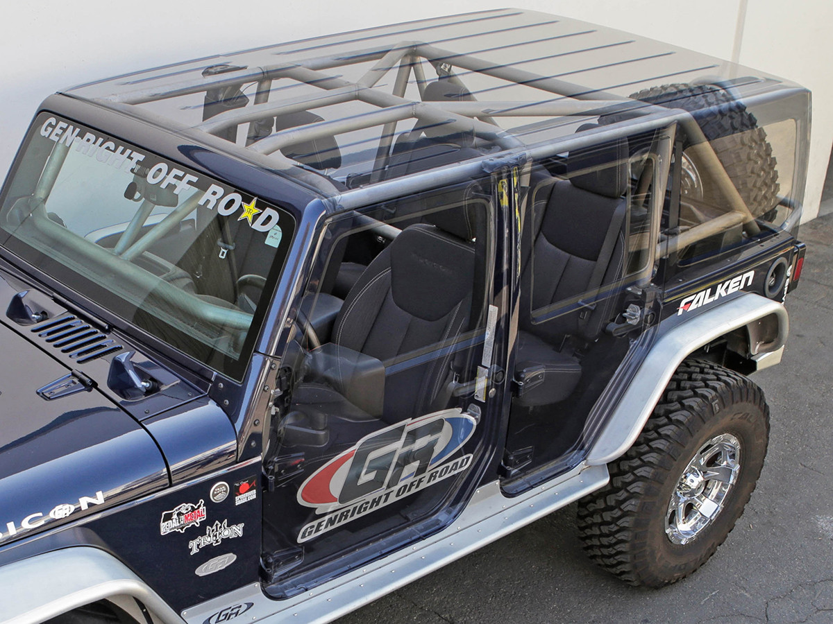 Compatible with factory hard/soft tops & doors