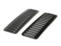 Hood Louver Set, 2pc Long BLACK