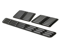Hood Louver Set, 3pc Short BLACK