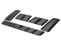 Hood Louver Set, 5pc BLACK
