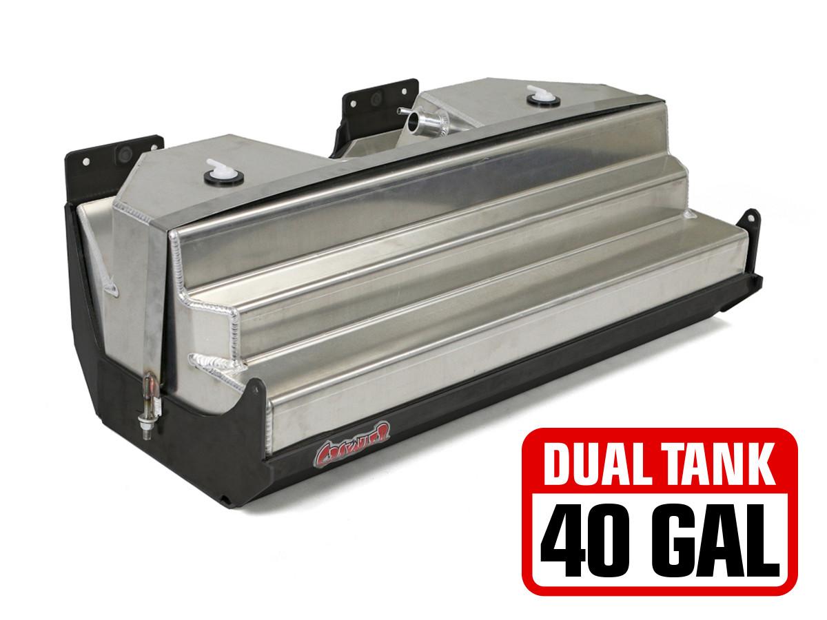 Jeep JK 20 Gal Dual Gas Tank & Steel Skid Plate (40 Gal. total capacity)