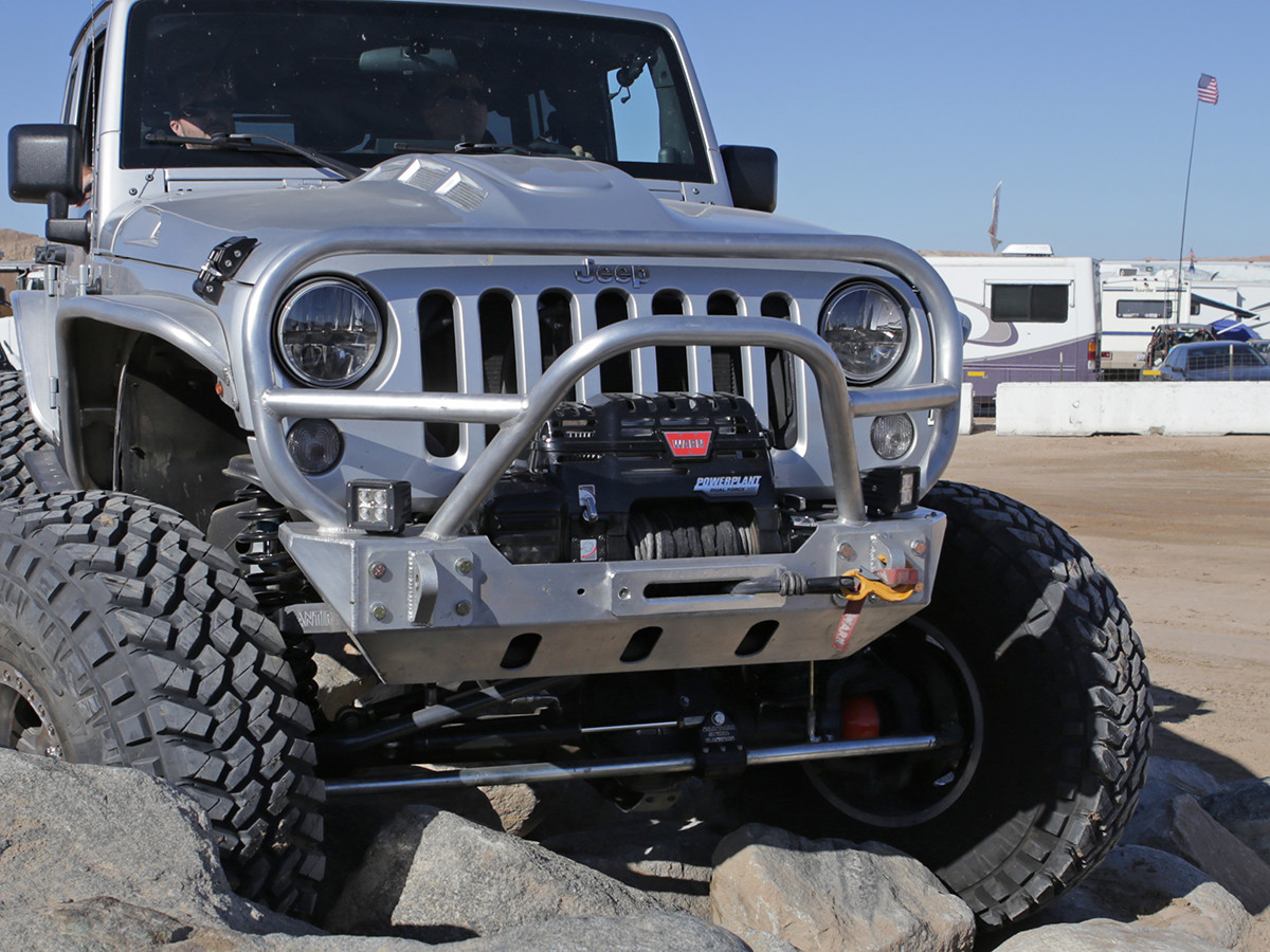 Jeep Grill Guards And Bumpers : Jk trail grill guard front bumper aluminum genright