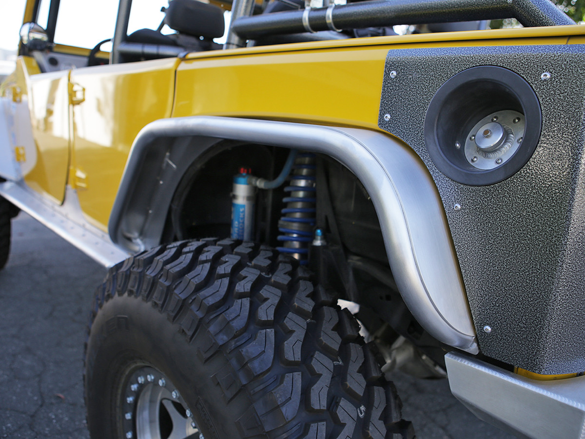 "Jeep JK 4"" Flare Rear Tube Fenders - Aluminum"