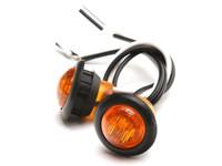 """3/4"""" Amber LED Round Marker Light (Pair)"""