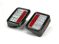 Spyder Auto JK LED Tail Lights in (Chrome/Clear)