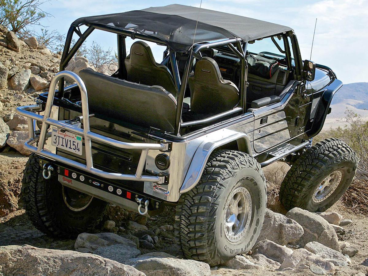 Jeep TJ/LJ Swing Out Rear Tire Carrier - Steel