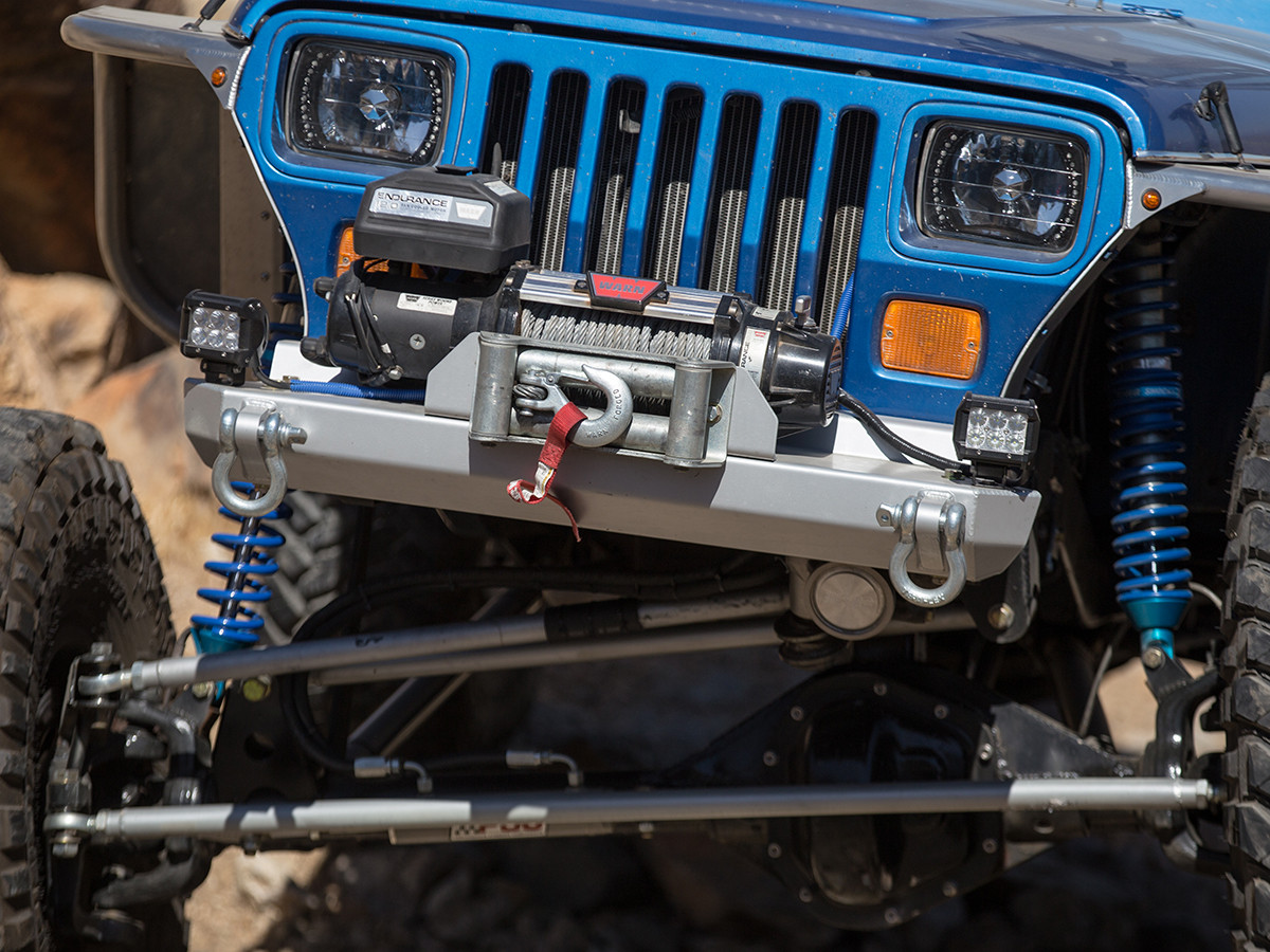 YJ Stubby Front Bumper Installed