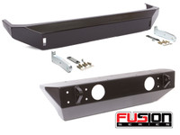 Fusion Jeep JK Front & Rear Bumper Package (Black - Steel)