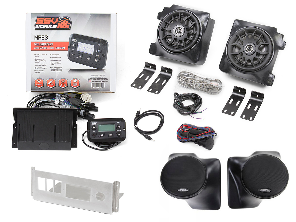 SSV MRB3 4 Speaker Complete Audio System for Jeep TJ/LJ