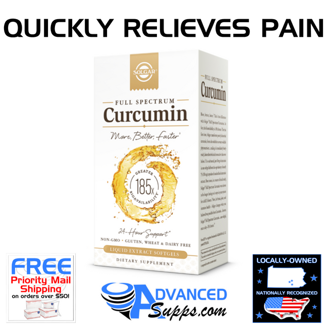 FULL SPECTRUM CURCUMIN: Relieves Pain & Inflamation