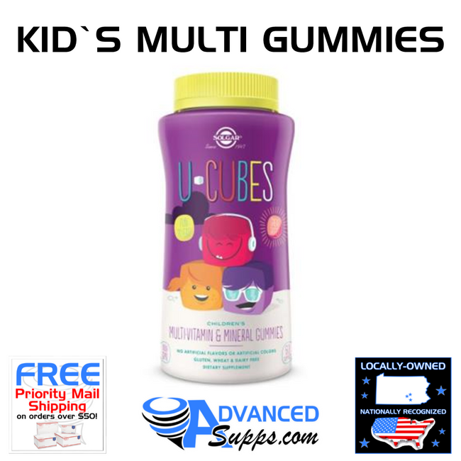 U-CUBES: Children's Multi-Vitamin & Mineral Gummies