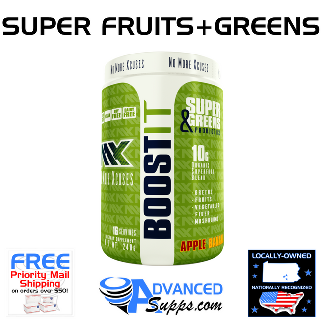 BOOST IT: Super Fruits & Greens with Probiotics!
