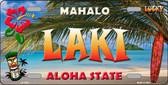 Laki Hawaii State Background Novelty Wholesale Metal License Plate