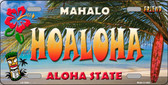 Hoaloha Hawaii State Background Novelty Wholesale Metal License Plate