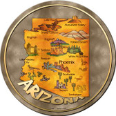 Arizona State Wholesale Novelty Metal Circular Sign