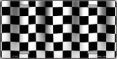 Waving Checkered Flag Wholesale Metal Novelty License Plate