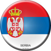 Serbia Country Wholesale Novelty Metal Circular Sign