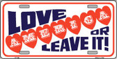 Love America Or Leave It Wholesale Metal Novelty License Plate LP-144