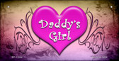 Daddys Girl Novelty Wholesale Metal Bicycle License Plate