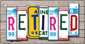 Retired License Plate Art Metal Novelty Mini License Plate Key Chain