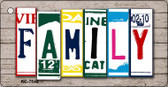 Family License Plate Art Metal Novelty Mini License Plate Key Chain
