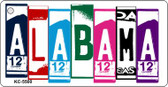 Alabama License Plate Art Metal Novelty Mini License Plate Key Chain