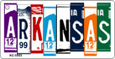 Arkansas License Plate Art Metal Novelty Mini License Plate Key Chain