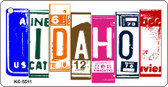 Idaho License Plate Art Metal Novelty Mini License Plate Key Chain