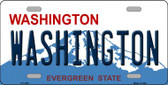Washington State Background Novelty Wholesale Metal License Plate LP-1476