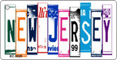 New Jersey License Plate Art Metal Novelty Mini License Plate Key Chain