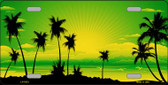 Sunset Yellow Green Wholesale Metal Novelty License Plate