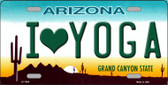 I Love Yoga Novelty Wholesale Metal License Plate
