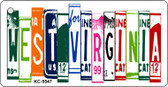 West Virginia License Plate Art Metal Novelty Mini License Plate Key Chain