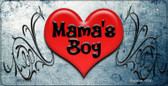 Mamas Boy Novelty Wholesale Metal Bicycle License Plate