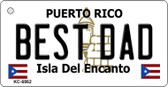 Best Dad Puerto Rico Flag Wholesale Novelty Key Chain
