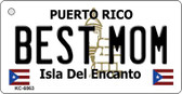 Best Mom Puerto Rico Flag Wholesale Novelty Key Chain