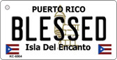 Blessed Puerto Rico Flag Wholesale Novelty Key Chain