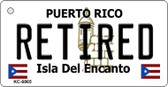 Retired Puerto Rico Flag Wholesale Novelty Key Chain