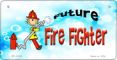 Red Future Fire Fighter Novelty Wholesale Metal Bicycle License Plate